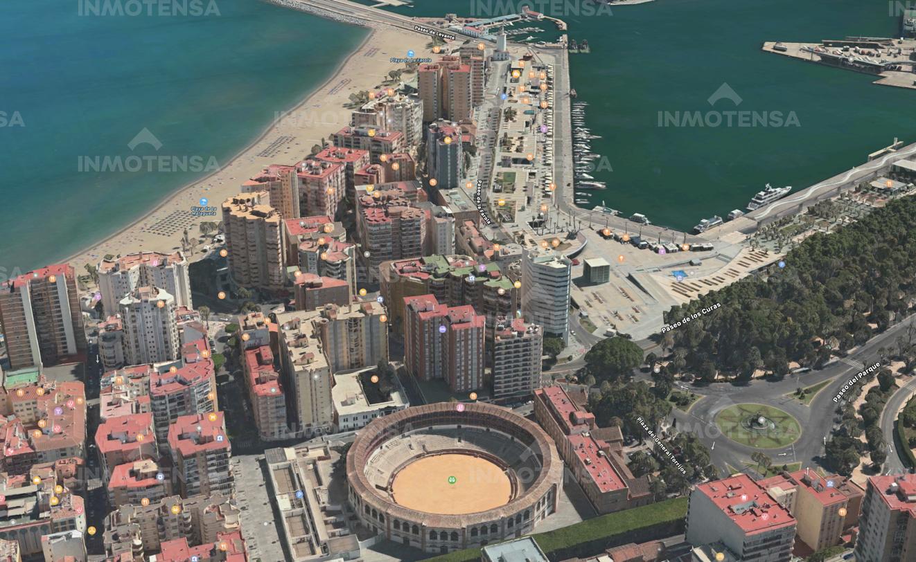 Amplio Piso en La Malagueta, centro de Málaga y de Muelle Uno